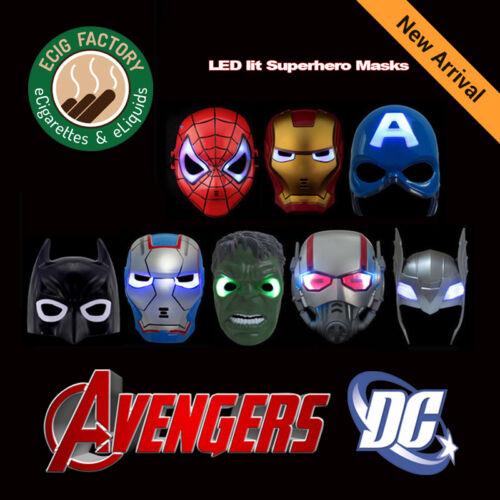 Marvel DC superhero Mask with LED Spiderman Iron Man Batman Antman Thor Hulk