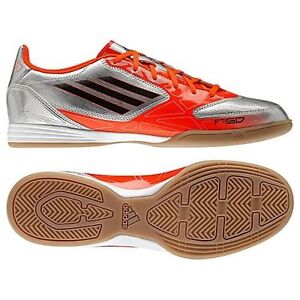new styles 8d180 2d9d6 Image is loading ADIDAS-F10-IN-INDOOR-SOCCER-SHOES-FUTSAL-METALLIC-