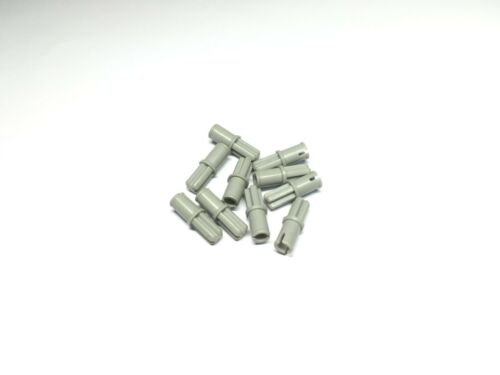 LEGO 3749 Old Gray Technic Axle Pin without Friction Ridges Lengthwise x10