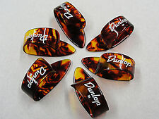 DUNLOP 9022R TORTIOSE SHELL CELLULOID THUMB PICKS 6 PICKS Medium