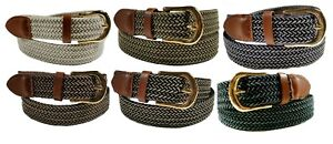 Woven-Stretch-Belt-Mens-6-Colors-Size-S-thru-3XL