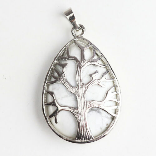 Amethyst Aventurine Silver Tree of Life Chakra Teardrop Pendant for Necklace Hot
