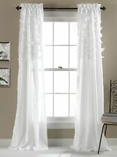 Lush Decor Avery Window Curtains, 84 By 54 Inch, White, Set Of