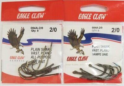 TEN PACK EAGLE CLAW LIVE BAIT SIZE 2 Ten hooks per pack MINNOW HOOKS