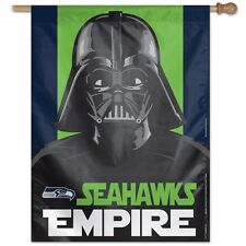 "SEATTLE SEAHAWKS EMPIRE DARTH VADER 27""X37"" BANNER FLAG BRAND NEW WINCRAFT"