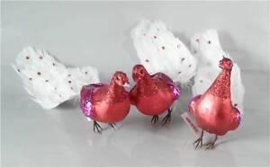 Ein Vogel Pfau Rot Federn Christbaumschmuck Vogel Deko 2 Wahl Ebay
