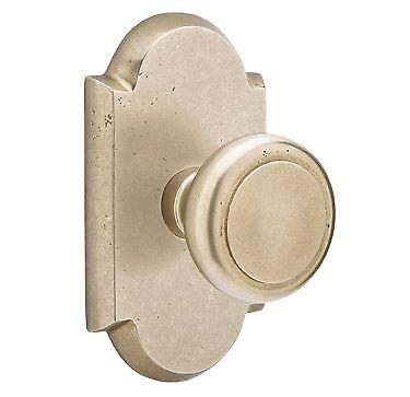 Emtek Sandcast Bronze Butte Knob Door Set