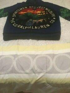 Polo Ralph Lauren Sportsmen Respect Wildlife Full Size Zipper Sweater Cardigan Ebay