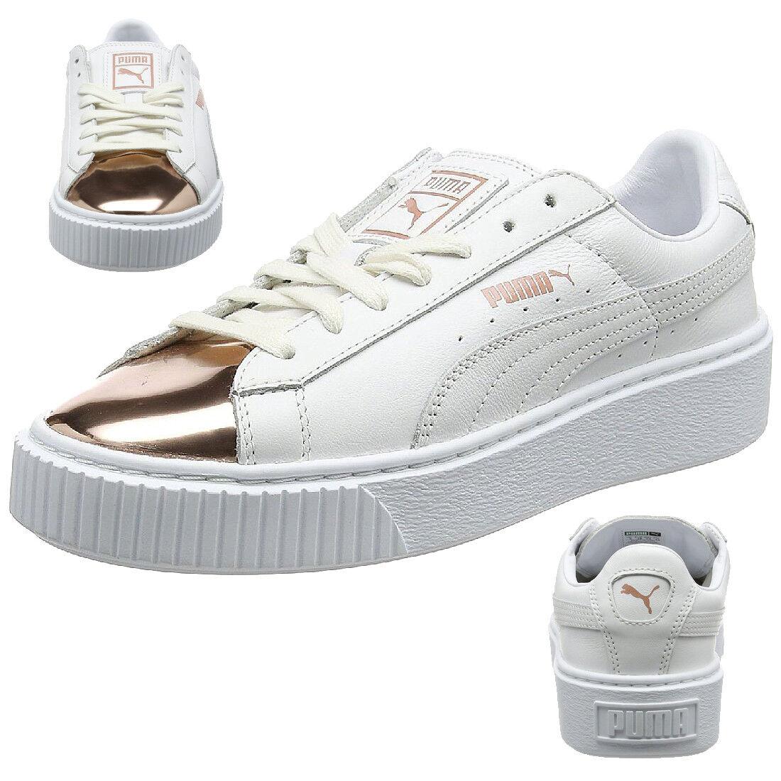 Zapatos promocionales para hombres y mujeres Puma Cesta Plataforma Metálico Zapatilla deportiva mujer Zapatos de niña 366169