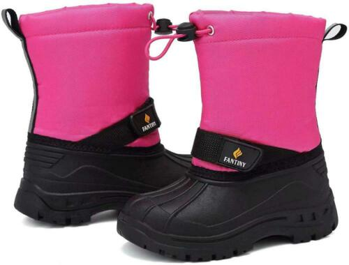 CIOR Toddler Snow Boots for Boy Girl Winter Outdoor Waterproof with Fur...