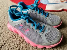 NEW Girl's Under Armour Shoes Size 3.5Y Youth GGS TEMPO TCK 1283764-767 Pink