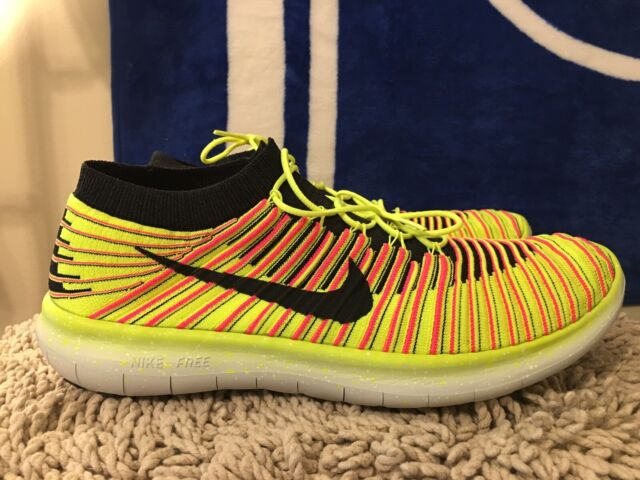 Nike Free RN Motion Flyknit OC, 843433 999, Yellow, Men's Running Shoes Size 13