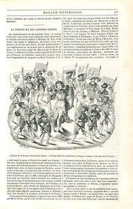 Alliance de la France & les Cantons Confédérés de la Suisse GRAVURE PRINT 1840 - France - Alliance of France and the Confederate Cantons of Switzerland France Article Complet ANTIQUE PRINTGRAVURE 100 % DÉPOQUE 1840 PORT GRATUIT EUROPE A PARTIR DE 4 OBJETS BUY 4 ITEMS AND EUROPE SHIPPING IS FREE Il s'agit d'un fragment de page origina - France