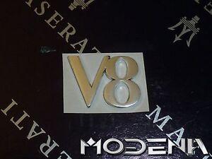 Emblem-Schriftzug-Sign-V8-Zeichen-Scritto-Maserati-4200-Coupe-Spyder-Gransport