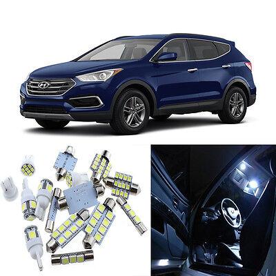 10pcs White Interior LED Light Package Kit for Hyundai Santa Fe 2013-2016