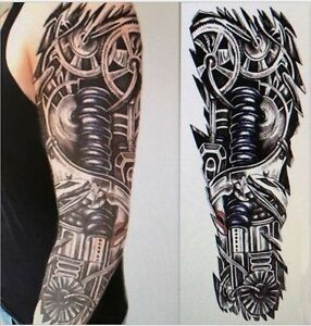 Full Arm Temporary Robot Tattoo Steam Punk Sleeve Stickers