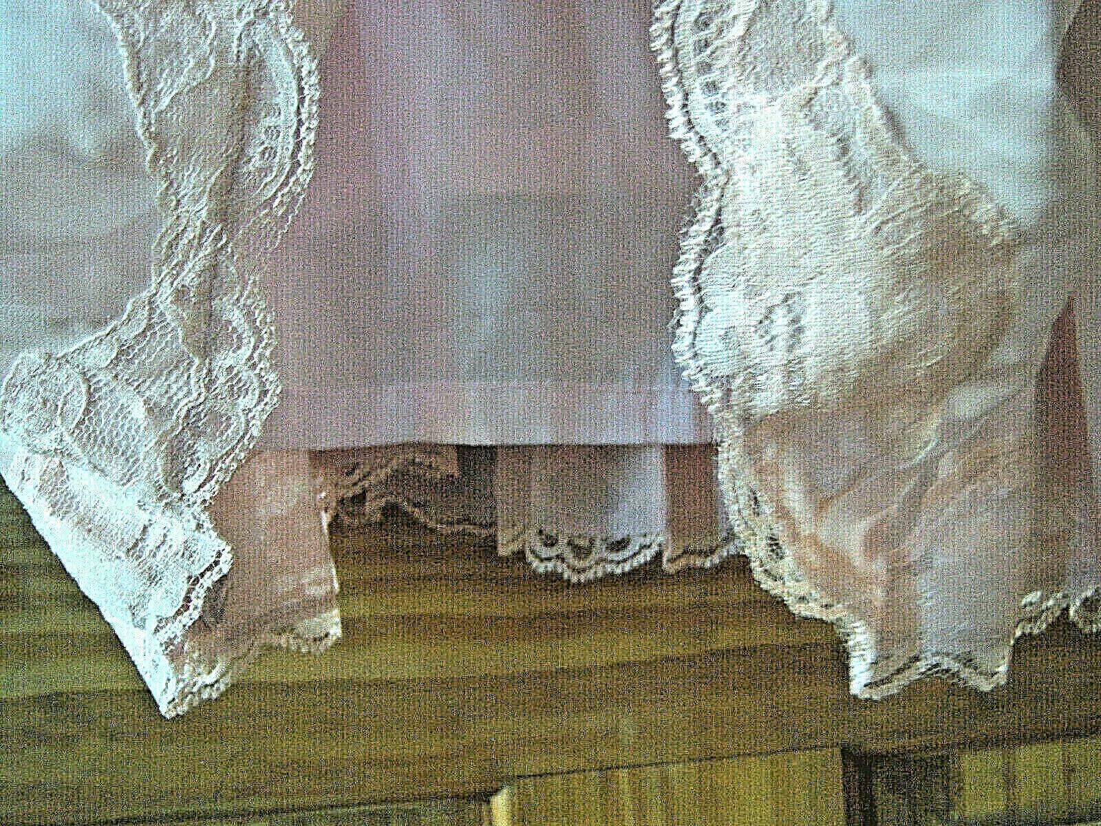 Women's fancy chiffon dress size L dusty rose pink - image 5
