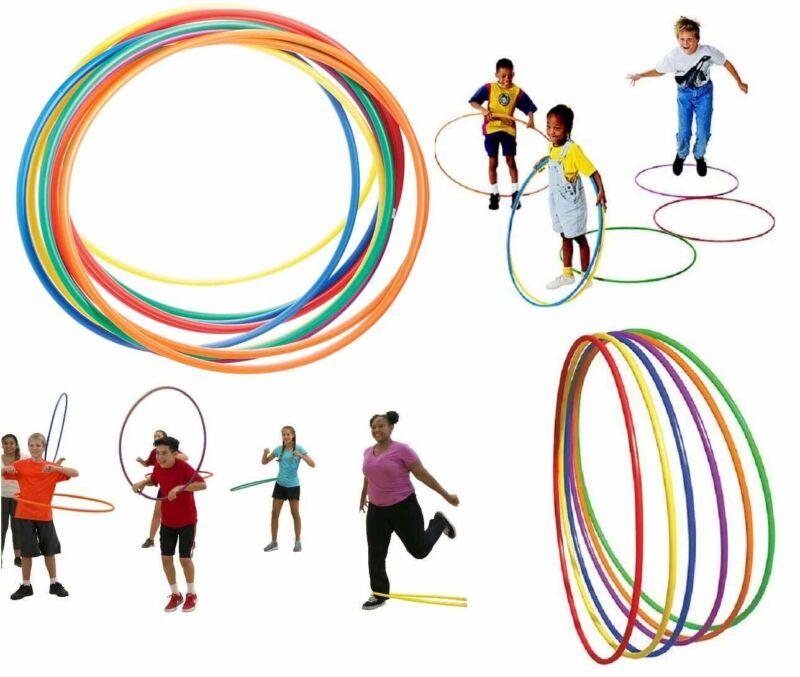 Plain Multicolour Hula Hoop Children's Adult Fitness Gymnastic Activity Plastic