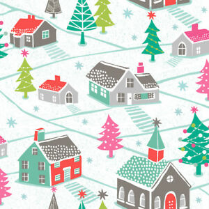 Christmas-Winter-Village-Dashwood-Studio-Christmas-Trees-Cotton-FQ-1-2m-Metre