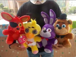 4pcs-Fnaf-Five-Nights-At-Freddy-039-S-Chica-Bonnie-Foxy-Plush-Soft-Doll-Toys-Gift-A
