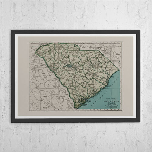 South Carolina Map South C Vintage Map of South Carolina SOUTH CAROLINA MAP