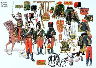LE PLUMET PLANCHE 209 DRAGONS 14e REGIMENT ETENDARDS EN EGYPTE 1800-1801.
