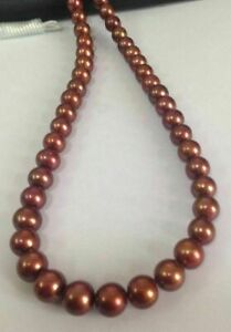 AAA-18-034-9-10-MM-SOUTH-SEA-NATURAL-Chocolate-PEARL-NECKLACE-14K-GOLD-CLASP