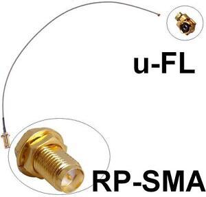 Antennen-Adapter-Kabel-RP-SMA-gt-uFL-Wlan-WiFi-Speedport-DLink-Pigtail-Antenna
