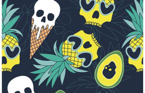 Hawaii Horror Black Ballpoint Pen Pineapple Skulls Ice Cream Cool Gift #16020