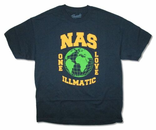 NAS Globe One Love Illmatic Navy Blue T Shirt New Official