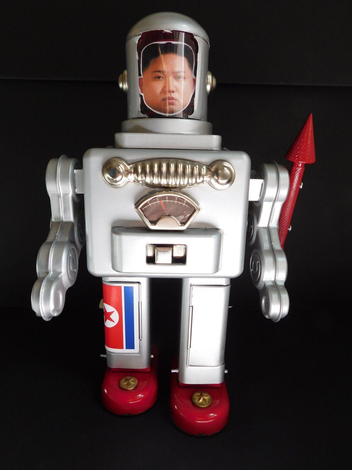 Assemblage robots, found parts robots, Kim Jung Un robot
