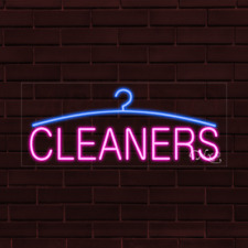 Brand New Cleaners Withlogo 32x13x1 Inch Led Flex Indoor Sign 30039