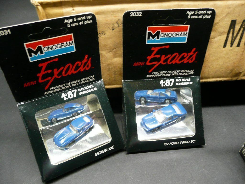 NEU MONOGRAM mini Exacts im 12 SET N 87 87 87 H.O.SCALE OVP Mustang Chevy Bel Air f1d407