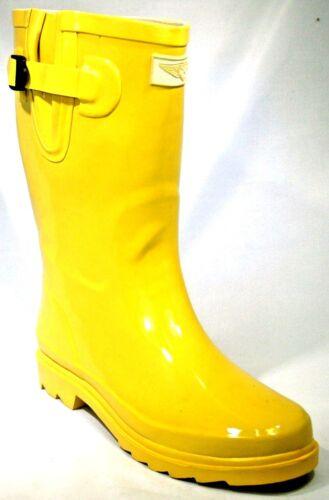 New Women/'s Glossy Rain Boots Garden Boots Wellies Brand New Sizes 6-10
