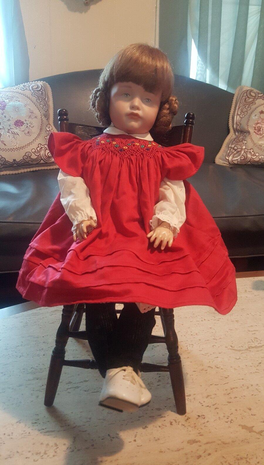 1909 K  R 114 mirando-Reinhardt cabeza de Biscuit muñeca personaje Gretchen sensuales con silla