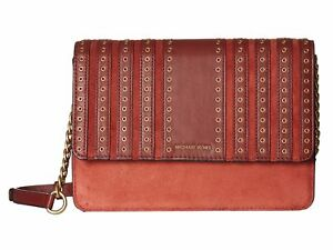 dc0a58ebb370 Image is loading MICHAEL-Michael-Kors-Brooklyn-Grommet-Large-Crossbody- Clutch-