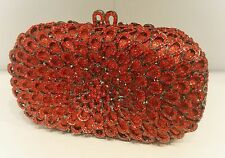 Red/Black Color New Bridal/Evening Handmade Austria Crystal Purse Clutch Bag
