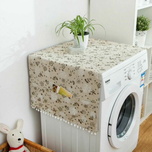 Dust Top Cover With 6 Storage Bags For Washing Machine Fridge Microwave Oven