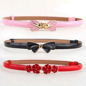 Women-Adjustable-Quality-Bow-Flower-Buckle-Thin-Narrow-Strap-Waist-Band-Belt