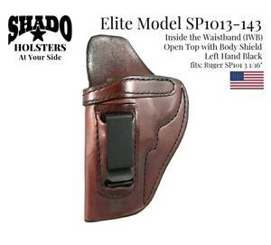 SHADO-Leather-Holster-USA-Elite-Model-SP1013-143-Left-Hand-Brown-IWB-Ruger-SP101