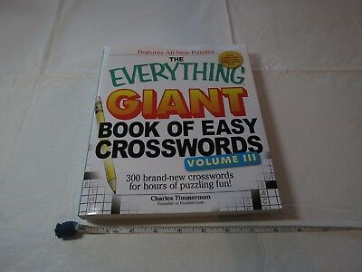 The Everything® Giant Book of Easy Crosswords Vol. 3 300 Brand New puzzles NOS