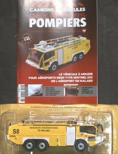 POMPIERS  N° 119 VEH A MOUSSE TYPE S3X L/'AEROPORTS DE MALABO