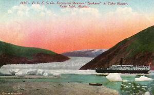 ETATS-UNIS-Alaska-PCSS-Co-TAKU-INLET-Excursion-Steamer-Spokane-at-Taku-Glacier