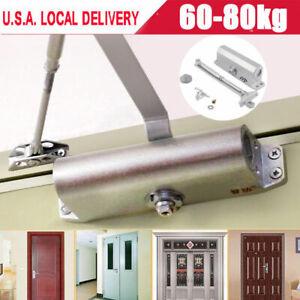 Aluminum Commercial Door Closer Two Independent Valve Control Heavy Duty 60-80KG