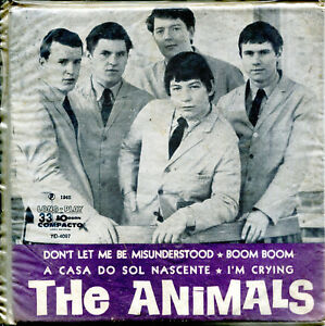 THE-ANIMALS-7-034-Don-039-t-Let-Me-Be-Misunderstood-original-Brazil-EP-Odeon-1965