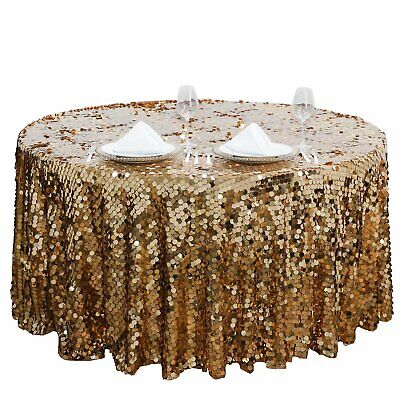 """BURGUNDY ROUND 120/"""" Large Payette Sequin TABLECLOTH Wedding Catering Dinner"""