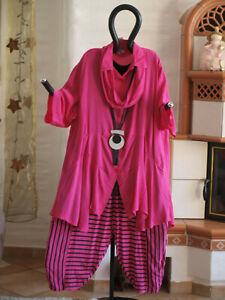 Schal Mit 1950 Labass Xxl Renate Bluse Gr 52 54 Jacke Viskose Pink Tunika HARAFSx