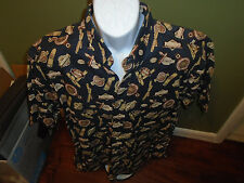 TRIBUTE  CLASSICS Cigar Shirt BuItton-Front SIZE ADULT LARGE CIGARS