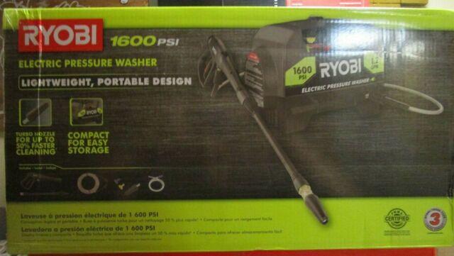 Ryobi 1600PSI Portable Electric Pressure Washer RY141612VNM BRAND NEW