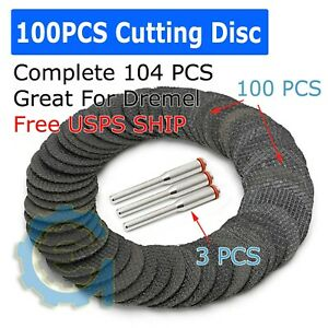 Mandrel Fiberglass Reinforced Dremel Cut Off Wheel Rotary Discs Saw 1//8 100pcs